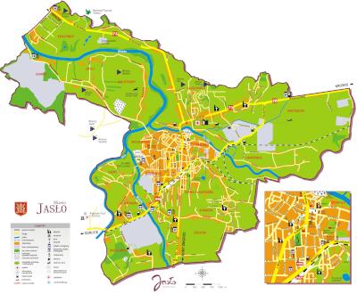 Mapa Miast aJasła
